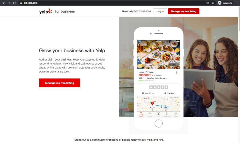 Subdomain Example - biz.yelp.com