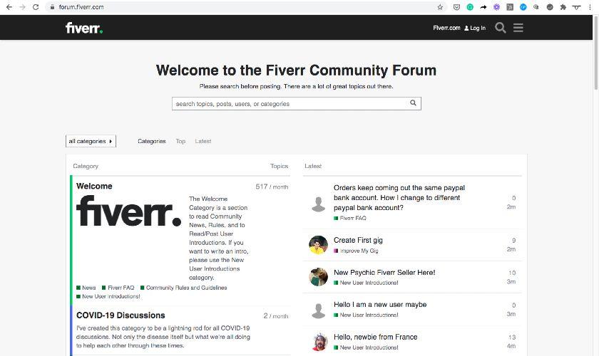 Subdomain Example - forum.fiverr.com