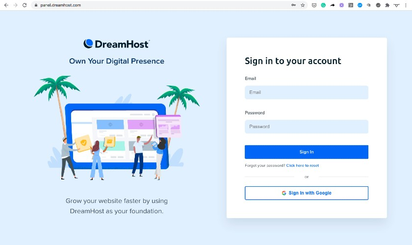 Subomain Example - panel.dreamhost.com