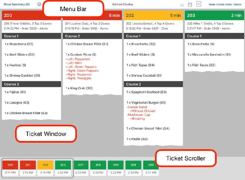 Screenshot of TouchBistro Features