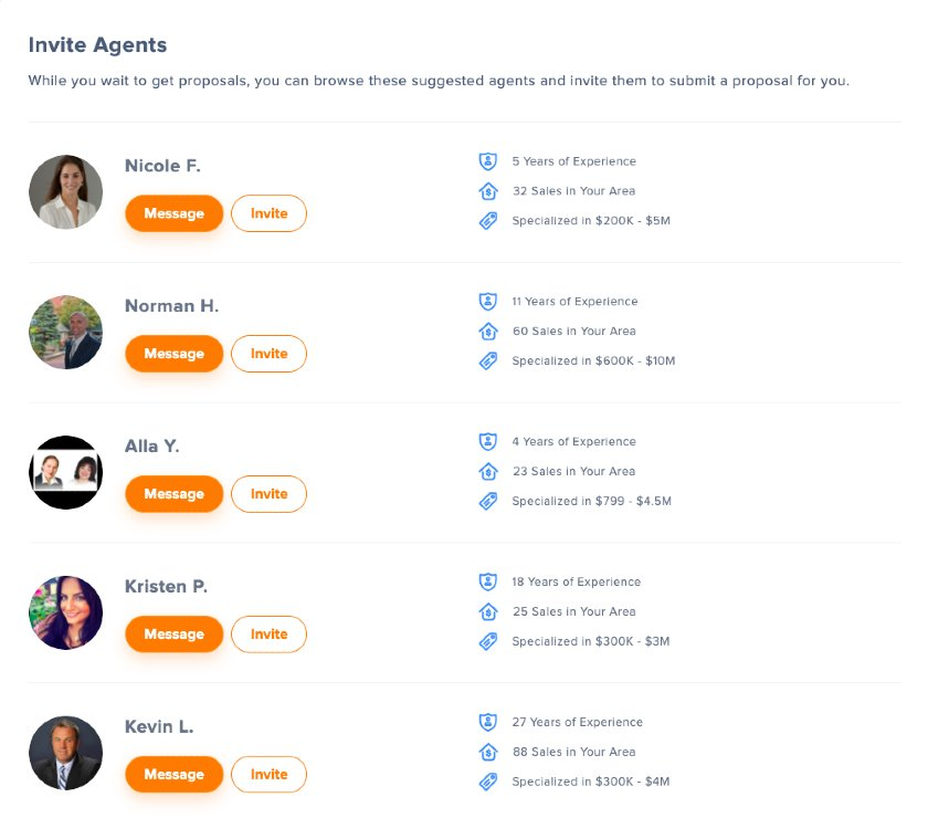 UpNest Agents Section