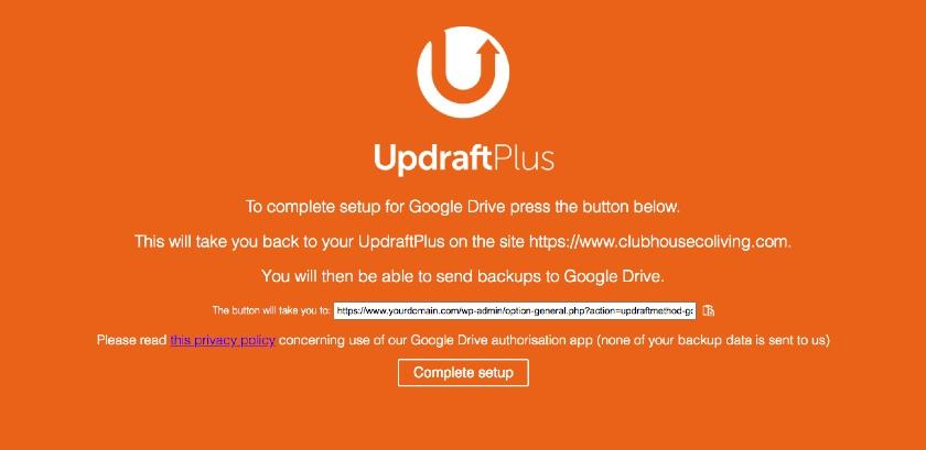 Updraft Confirmation link