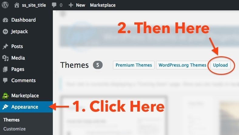 Upload and Install WordPress theme