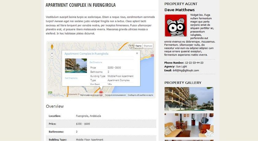 WP-Property Front-end Display