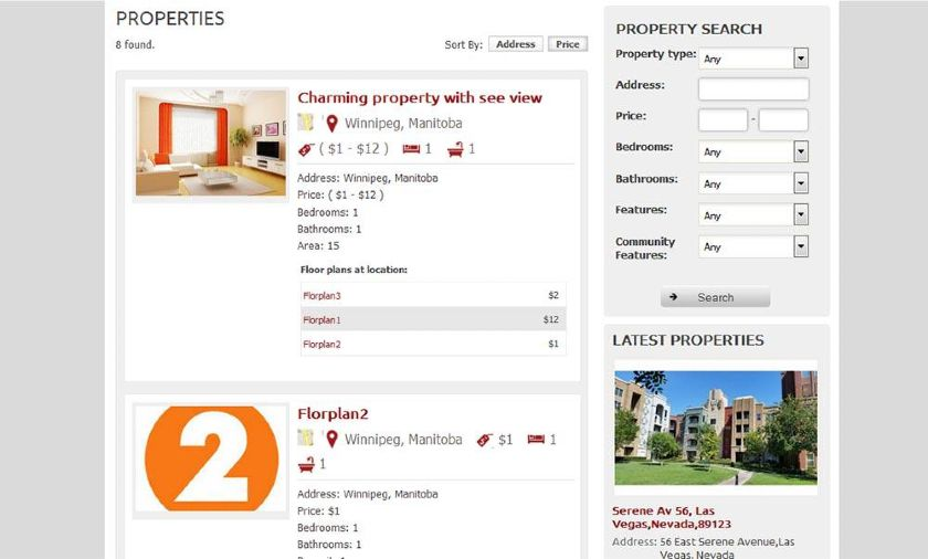 WP-Property Search