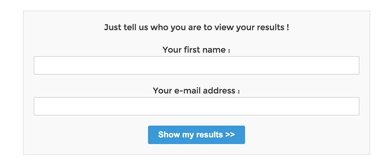 WordPress Viral Quiz Show Result Form