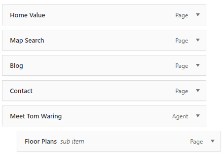 Wordpress Nested menus