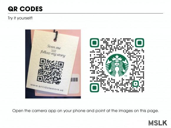Screenshot of QR Codes