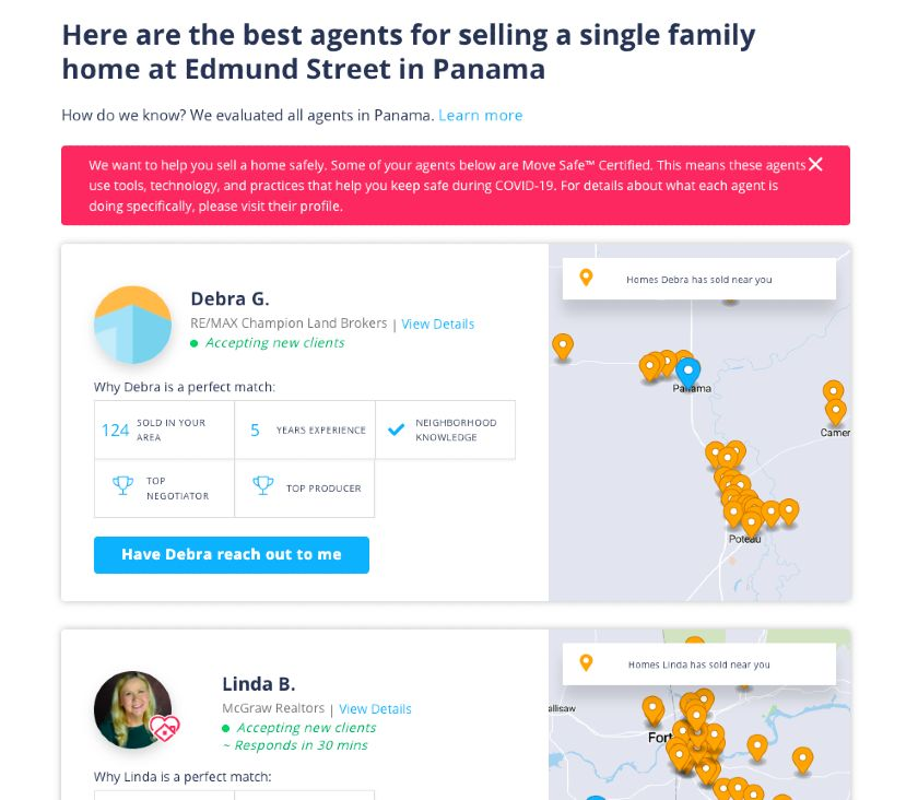 professionals featured section on HomeLight