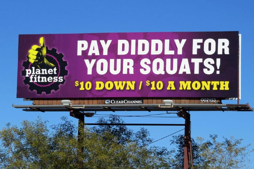 local advertising - Planet Fitness