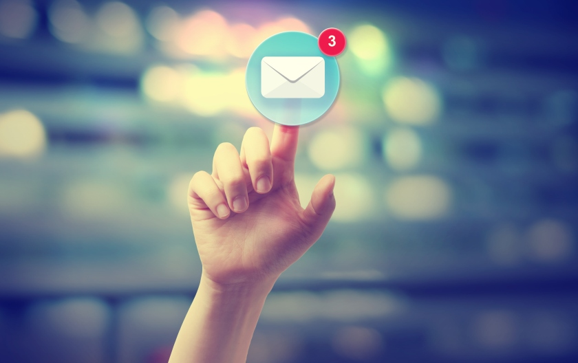 pressing an email icon