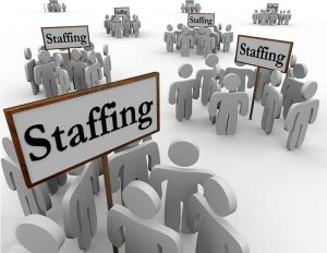 Several Groups People Staffing Gathered