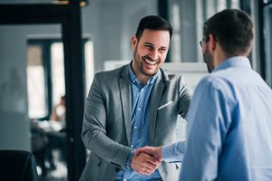 businessman doing handshake