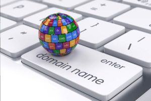 colorful ball on top of domain name