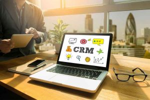 CRM on laptop
