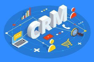 CRM isometric vector illustration