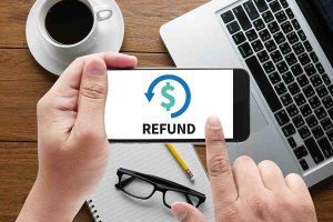 Image of refund text on mobile