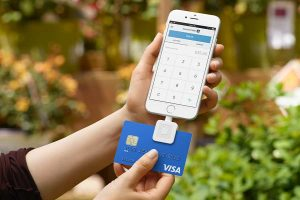 smartphone and credit card