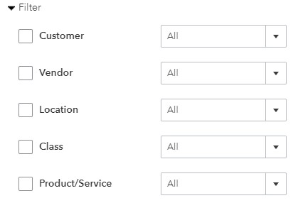 Filter Balance Sheet by Variables in QuickBooks Online