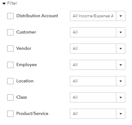 Filter Reports by Variables in QuickBooks Online