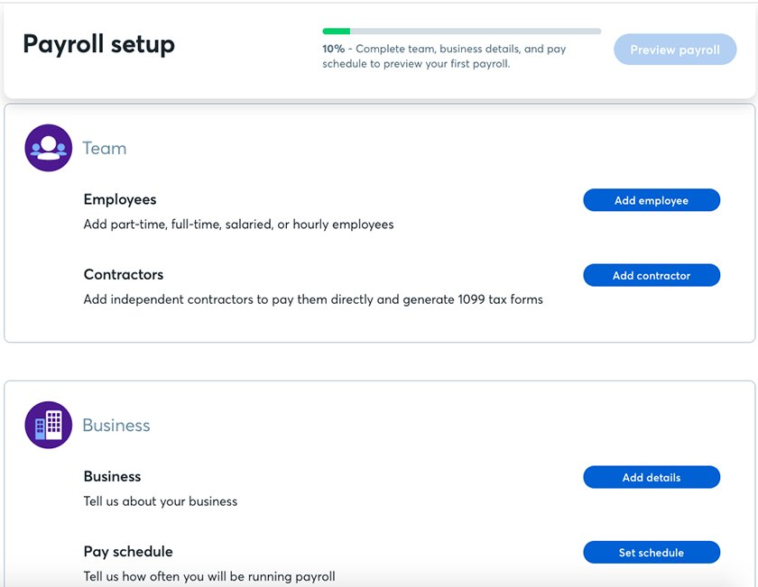 Setting Up Your Wave Payroll screenshot