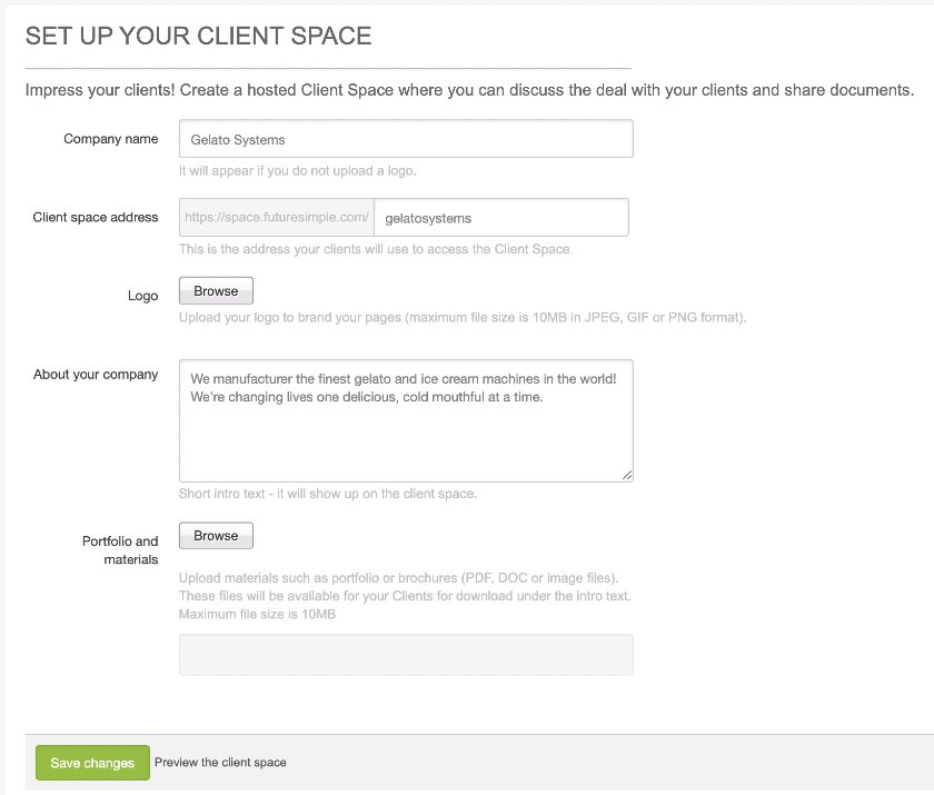 Zendesk Sell client space setup