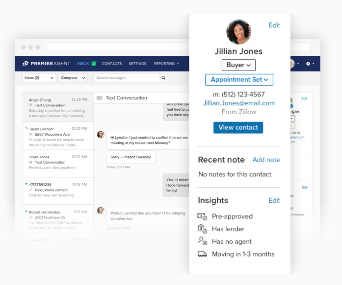Zillow Premier Agent CRM contacts