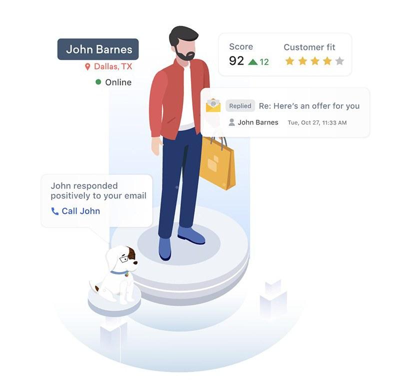 Freshsales AI feature individual lead score sample