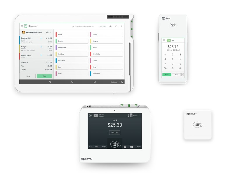 Screenshot of Clover POS Hardware Solutions