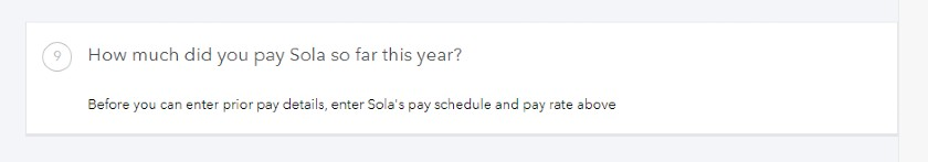 Screenshot of How Much Did You Pay an Employee This Year