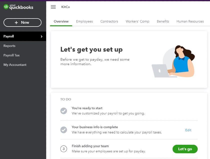 Screenshot of QuickBooks Overview