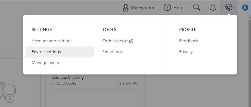 Screenshot of Setting Up Check Printing