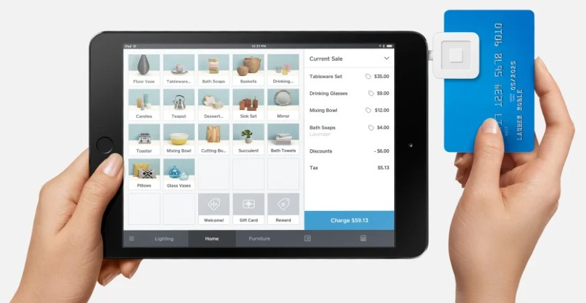 Screenshot of Square Free POS and Magstripe Reader on iPad