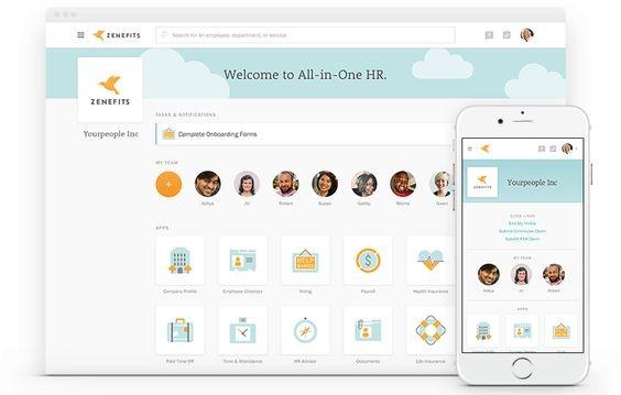 Screenshot of Zenefits Offering Employee Health Benefits
