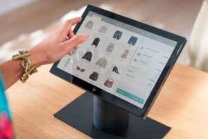 ordering online using touch screen technology