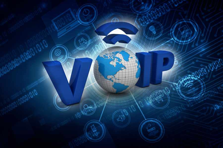 3D illustration of VoIP