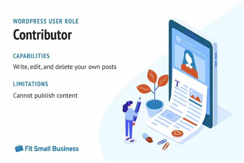 WordPress User Role - Contributor