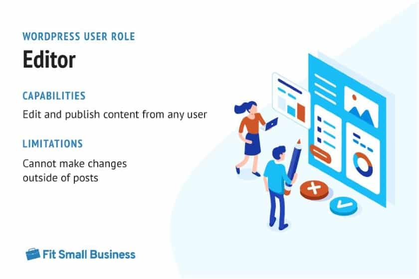 WordPress User Role - Editor