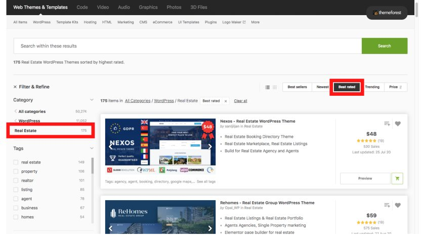 Best rated real estate wordpress themes