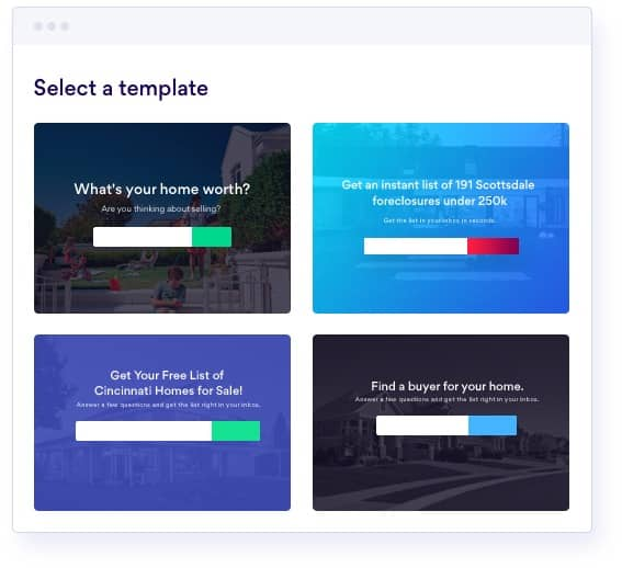 BoldLeads call to action forms templates