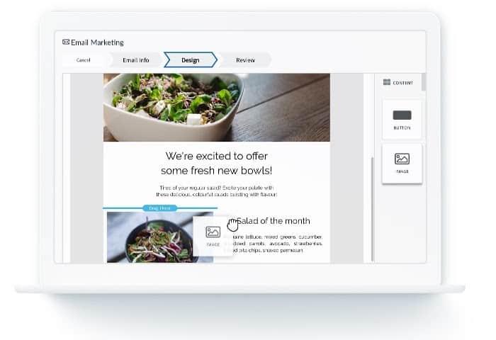 Screenshot ofLightspeed Restaurant email marketing dashboard