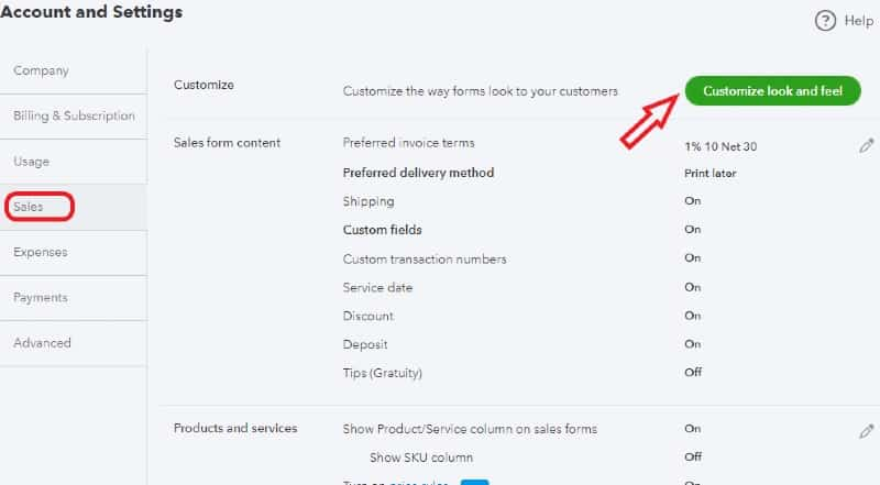 Customize Look and Feel of Sales Forms