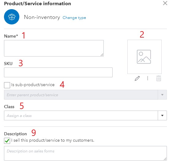 Non-Inventory Information in QuickBooks Online (1 of 2)