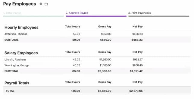 Screenshot of Patriot Software_Payroll Processing