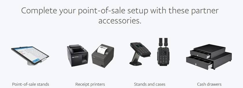 Screenshot of Paypal Here POS hardware