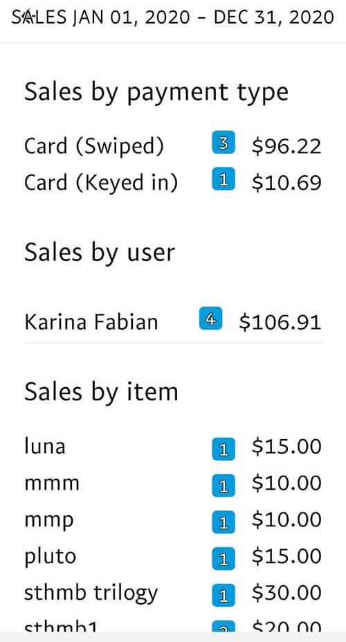 PayPal Sales reports