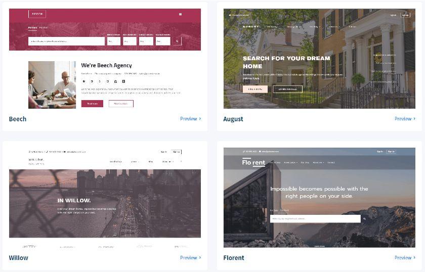 Placester multiple website templates