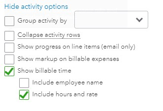Provide Additional Activity Detail for Your Invoice