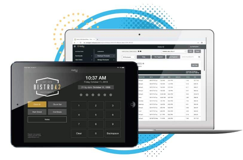 Screenshot Rezku dashboard on gadget