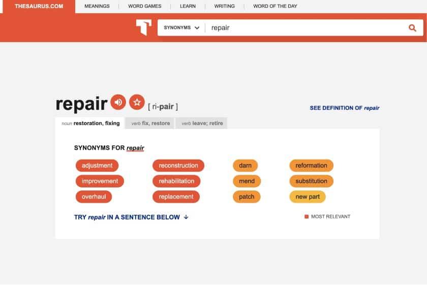 Thesaurus Website